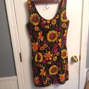 Vintage Silk floral mini dress